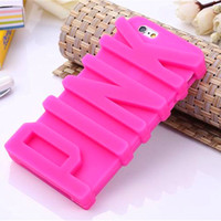 Wholesale 3D Pink Letter secret silicone phone back cover case for iphone s s s s plus mm0630