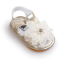 beaded moccasins - Summer Newborn Baby sandals First Walkers Infant Toddler beaded flowers Baby Girls Moccasins Soft Moccs Shoes Footwear Baby shoes A9583