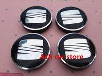 auto wheel bag - emblem bags mm Black SEAT car badge Decal wheel center hub caps emblem dust proof stickers Auto accessories