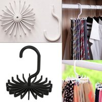 Wholesale Adjustable Rotating Tie Rack Hanger Hooks Neck Belt Scarf Holder Organizer