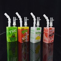 Wholesale Hitman Glass Juice Box Oil Dab Rig Liquid Sci Glass Water Pipes quot Terpicana ThC Hashy Hash Themed Cereal Box Concentrate Bong