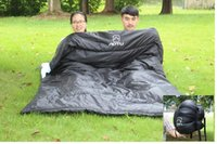 Wholesale Lover Double Sleeping Bag people Thickening Envelope Type for Outdoor Survival Camping