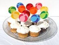 baby birthday pool - Beachballs Cupcake Toppers wedding birthday bridal baby shower pool Party food picks