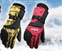 Wholesale 1Pair Head gloves men s ski gloves Snowboard gloves Snowmobile Motorcycle Riding winter gloves Windproof Waterproof unisex snow gloves
