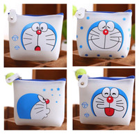 Wholesale Kawaii Models Choice CM NEW Doraemon Silicone Pouch Hand Pocket Storage Coin Purse BAG Wallet Case