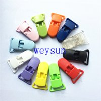 Wholesale D Shape Plastic Pacifier Clip Dummy Clip Suspender Clip For MM Ribbon Soother Nuk MAM Bib Toy Holder