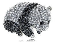 baby onyx - Adorable Cute Clear Black Crystal Rhinestone Baby Panda Zoo Animal Pin Brooch