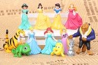 Wholesale princess doll snow white gifts mini plastic gift pvc action figure figures dolls Cinderella Belle Tangled rapunzel Frog Prince girls