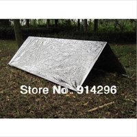 Wholesale First Aid Emergency tents Shelter Tents PET Aluminized Film Summer Outdoor Camping Hiking Survival Rescue Blanket Tents