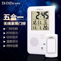 Wholesale Wireless remote control doorbell household AC DC digital electronic calendar wireless doorbell old pager