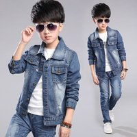 Wholesale Children s wear boy s coat new cowboy clothes during the spring and autumn thin cardigan han edition cuhk children s jacket