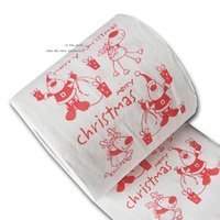Wholesale christmas Toilet paper Color Printing Xmas roll paper Creative Funny New Year Gift