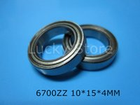 Wholesale 6700ZZ bearing Z ZZ ZZ mm chrome steel deep groove bearing metal sealed bearing Thin wall bearing
