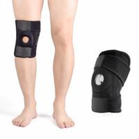 belt fastener - Steel Bone Neoprene Patella Black Elastic Knee Brace Fastener Support Guard Gym Sport Knee Belt Support