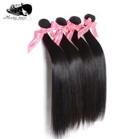 Wholesale Mocha Hair quot quot Unprocessed Straight Malaysia Virgin Human Hair Extension Natural Color Tangle Free