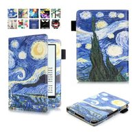 animal reader - Fashion Flower Print Leather Flip Case Pouch For Amazon New Kindle Oasis inch E Book E reader Painting Tree Tower Bag skin Cover