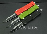 Wholesale 3 color MICROTECH troodon knife Combat Troodon single edged knives C steel Pocket knife camping DRC knife EDC tools