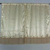 Wholesale 58 quot X24 quot Tiers Color Fabric Inlay Beautiful Tassels Small Kitchen Curtains