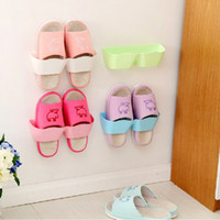 Wholesale 300pcs Creative Adhesive Shoes Rack Wall Hanging Shoes Organizer Hanger Hook High Quality WA0549