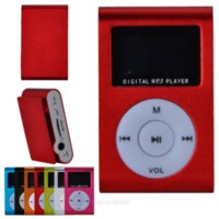 Wholesale Mp3 Player With Screen Display Metal Clip Digital MP3 Player With TF Card Slot USB Cable Earphone XDA1038