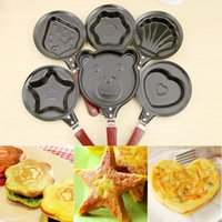 Wholesale Mini Fried Egg Mold Pans Hot Shapers Heart Shaped Bear Pig Frying Pan Animal Frying Pancake Mould Panela De Ferro Kitchen Tools