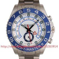 whites gmt - LUXURY BRAND NEW Top quality Luxury Box Sapphire White Dial II GMT Stainless Steel Automatic Men s Watch Watches