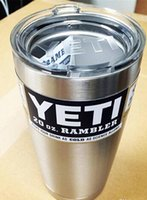 steel water bottles - 20 oz Yeti Cup YETI Cooler Cups Rambler Tumbler Travel Vehicle Beer Mug Vacuum Insulated Stainless Steel