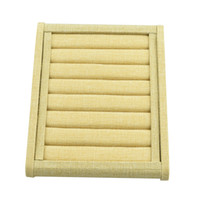 Wholesale 1pcs mm Rows High quality Sackcloth ring earrings display stand display props