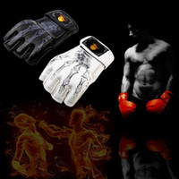 Wholesale 1 pair Boxing Gloves MMA Sparring Grappling Fight Boxing Punch Ultimate Mitts Leather Gloves