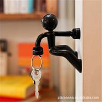 Wholesale Super Iron Absorption Magnetic Key Holder Wall Climbing Boy Key Hanger Key Pete Coulorful Mini key Rack C086