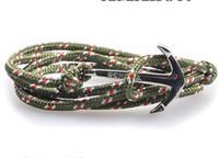 beach bracelets men - Gold Silver Plated Anchor Charm Multilayer Leather Bracelets Fashion Jewelry Beach Sport Survival Bracelet Men HQ
