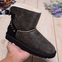 add snow - The New Style Winter Of Add Fluff Woman Short Boots US Pure Color Set Auger Bowknot Boots