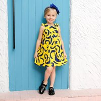 abstract color paintings - Children Summer Dresses New Fashion Vestido meninas Abstract paintings O Neck Sleeveless Bow Cotton Girls Dress