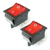 amp toggle switch - 2Pcs Pin Light On off Boat Rocker Switch V A AC AMP V A Red B00272