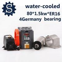 Precio de Bomba de refrigeración por agua-Kit del huso del CNC 1.5KW Agua que refresca el motor del huso + 1.5kw Interver + ER16 (1-10m m) + 80m m Abrazadera + 3.5m Bomba de agua + pipa