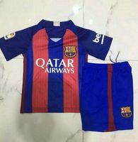 barcelona football shirts - _ Wholesales seasons barcelona home kids soccer jerseys customzied name number top quality soccer uniforms football shirts shorts