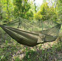 Wholesale Outdoor Travel Jungle Camping Hammock Garden Hanging Nylon Bed Mosquito Net