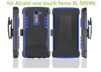 alcatel cell phone cases - 3 in TPU PC Case Super Combo Heavy Duty With Clip Cell Phone Case for Alcatel one touch fierce XL N