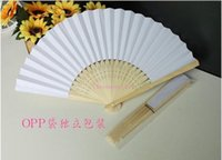 Wholesale DHL shipping In stock hot selling white bridal fans hollow bamboo handle wedding accessories Fans Parasols