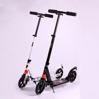 adult push scooters - New Arrival Teenager Scooters Adjustable Foldable Two Rounds Kickboard Kids Outdoor Push Kick Scooter Children Foot Scooter VE0113