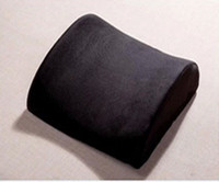 Wholesale nterior Accessories Seat Supports Black Lumbar Cushion Car Pillow Seat Support Back Pain Wedge Car Seat Chair Cover Car Cushion Pillow G0
