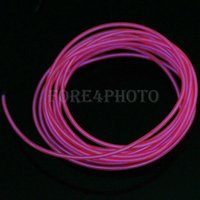 Wholesale 3M Flexible Neon Light Glow EL Wire Rope Tube Car Dance Party Controller H Pink