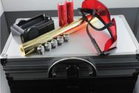 beam suits - 445nm Blue light Power Beam Cigarette Burning Laser Pointer Pen Suit Adjustable Golden Body m With Glasses BG008