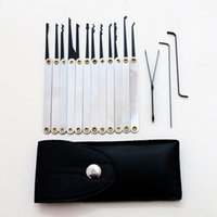 best handle door - Best Quality Lock Picks Sets Stainless Handles w Bag Removing Key Set Lockpick Locksmith Tools Lock Opener Unlock Door