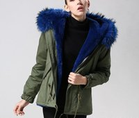 american blue rabbit - luxury outerwear Blue fur rabbit fur lined parka Lavish fur MR MRS FURS MR MRS itlay Inspired by vintage American army jackets