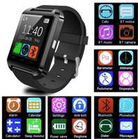 Wholesale U8 smart watch wrist smart watch U8 Sync Call push Message U8 watch smartwatch for IOS Xiaomi LG HTC Samsong Android smart phone