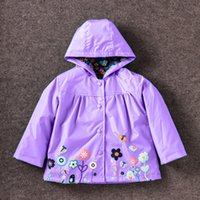 Wholesale 2016 New Children s Spring Coat Girl Baby Kid Waterproof Hooded Coat Jacket Outwear Raincoat Hoodies