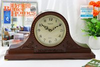 antique mantel clocks - Vintage wooden table clock with chime melody wood carving big clock quartz clock mantel clock home decor clocks