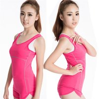 Wholesale Sports Training PRO Womans Tight Running Elastic Breathable Fitness Yoga Sweat Quick drying Vest Dress Colors