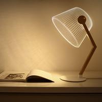 art deco bedroom decor - 3D Illusion Table Lamp Dimmable Visual Night Light LED Bedroom Reading Creative Lamps Decoration Home Decor UK EU US Plug